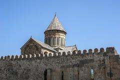 De kathedraal patriarchale kathedraal van al Georgia Svetitskhovel Royalty-vrije Stock Afbeeldingen