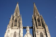 De Kathedraal in Regensburg royalty-vrije stock foto's