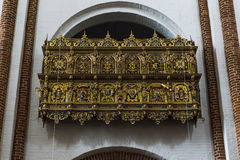 De kathedraal in Roskilde, Denemarken stock foto