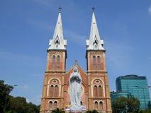 De kathedraal saigon voorzijde van de Notredame Royalty-vrije Stock Fotografie
