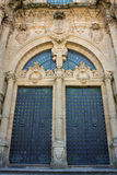 De Kathedraal Santiago DE Compostela, Spanje van de Deur van de glorie Royalty-vrije Stock Foto's