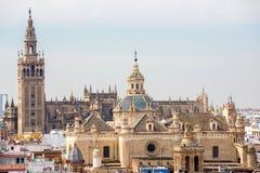 De Kathedraal Spanje van Sevilla Stock Afbeeldingen