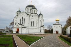 De Kathedraal in de stad van Novopolotsk Wit-Rusland Stock Afbeelding
