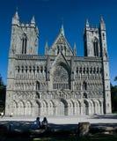 De Kathedraal Trondheim van Nidaros Stock Foto's