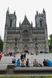 De Kathedraal Trondheim van Nidaros Royalty-vrije Stock Afbeeldingen