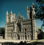 De Kathedraal Trondheim van Nidaros Stock Afbeelding