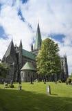 De Kathedraal Trondheim van Nidaros stock fotografie