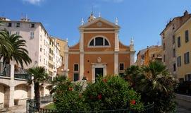 De kathedraal van Ajaccio stock fotografie