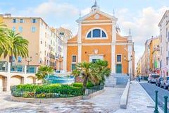 De Kathedraal van Ajaccio royalty-vrije stock afbeeldingen