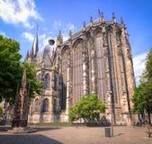 De Kathedraal van Aken, Duitsland stock afbeelding