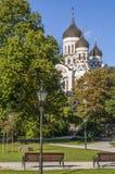 De Kathedraal van Aleksander Nevsky stock afbeeldingen