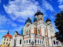 De kathedraal van Alexander Nevsky Stock Foto's