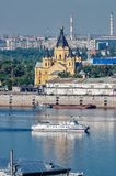 De kathedraal van Alexander Nevsky Nizhny Novgorod Royalty-vrije Stock Foto