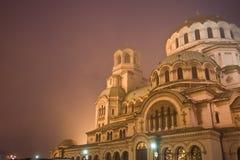 De kathedraal van Alexander Nevsky in Sofia Royalty-vrije Stock Fotografie