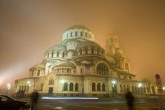De kathedraal van Alexander Nevsky in Sofia Stock Afbeelding