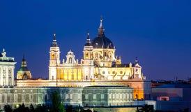 De Kathedraal van Almudena, Madrid, Spanje Royalty-vrije Stock Fotografie