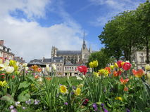 De Kathedraal van Amiens, Frankrijk stock foto
