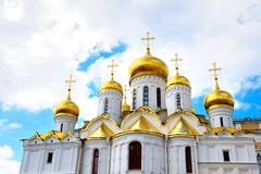 De Kathedraal van Annunication van Moskou het Kremlin Stock Afbeelding