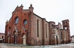 De kathedraal van Asti (Italië) Stock Fotografie
