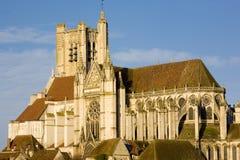 De Kathedraal van Auxerre Royalty-vrije Stock Afbeeldingen