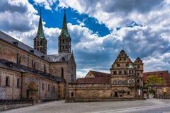 De Kathedraal van Bamberg in Hogere Franconia, Beieren, Duitsland stock foto's