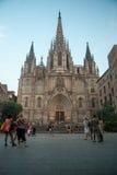 De Kathedraal van Barcelona Stock Foto