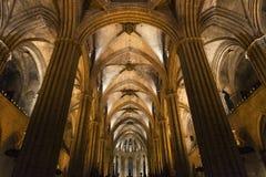 De Kathedraal van Barcelona Stock Afbeelding