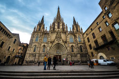 De Kathedraal van Barcelona Stock Foto's