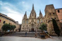 De Kathedraal van Barcelona Royalty-vrije Stock Afbeeldingen