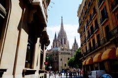 De Kathedraal van Barcelona Stock Afbeeldingen