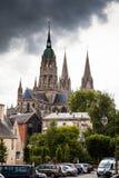 De kathedraal van Bayeux Stock Afbeelding