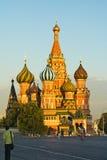 De kathedraal van Blazhennogo van Vasily Stock Foto's