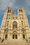 De Kathedraal van Brussel Royalty-vrije Stock Afbeeldingen