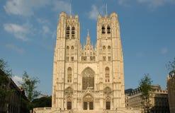 De Kathedraal van Brussel Stock Foto's