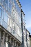 De Kathedraal van Burgos in glas wordt weerspiegeld dat Royalty-vrije Stock Foto