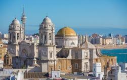 De Kathedraal van Cadiz royalty-vrije stock afbeelding