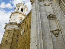 De kathedraal van Cadiz La Catedral Vieja, Iglesia DE Santa Cruz Royalty-vrije Stock Afbeeldingen