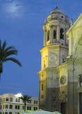 De kathedraal van Cadiz La Catedral Vieja, Iglesia DE Santa Cruz Stock Afbeeldingen