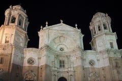 De Kathedraal van Cadiz, Spanje Stock Afbeelding