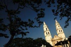 De Kathedraal van Campeche, Mexico Stock Foto's