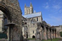 De kathedraal van Canterbury in een zonnige dag Stock Afbeeldingen