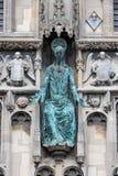 De Kathedraal van Canterbury van de voorgevelingang, Kent, Engeland Stock Foto's