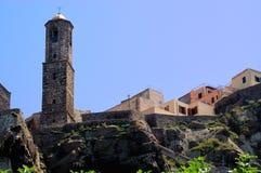 De Kathedraal van Castelsardo, Sardinige stock afbeeldingen