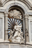 De Kathedraal van Catanië, details Sicilië, Italië Stock Fotografie