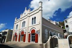 De Kathedraal van Charlotte Amalie stock foto