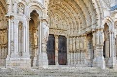 De kathedraal van Chartres in Eure et Loir Stock Afbeeldingen