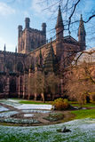 De Kathedraal van Chester, Engeland Stock Afbeeldingen