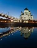 De kathedraal van Christus de redder. Moskou. Rusland Stock Afbeelding