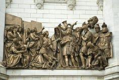 De kathedraal van Christus de Verlosser. Moskou. Rusland Stock Afbeeldingen