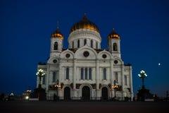 De kathedraal van Christus de Verlosser in Moskou, Rusland Stock Fotografie